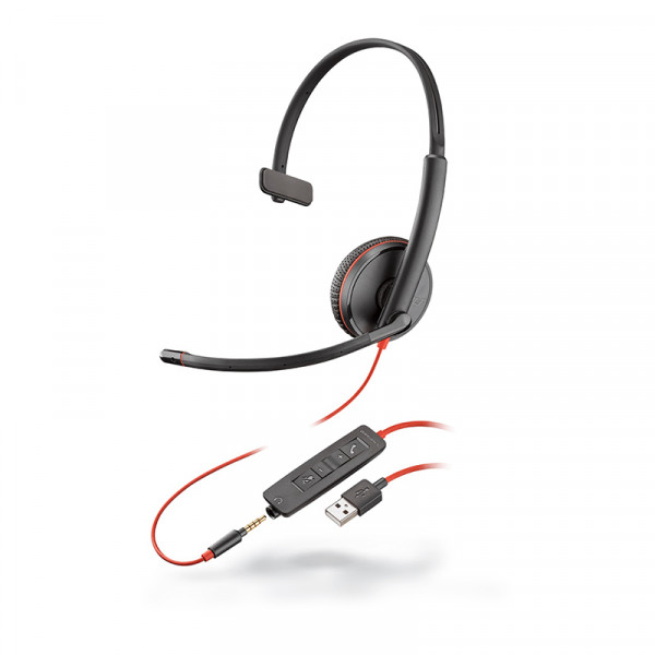 Гарнитура для компьютера Plantronics Blackwire C3215-A