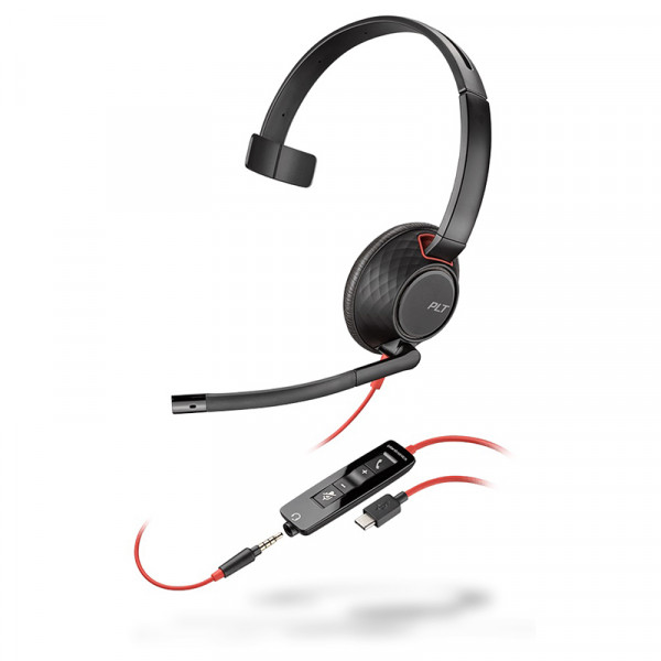 Моногарнитура для компьютера Plantronics Blackwire C5210-C